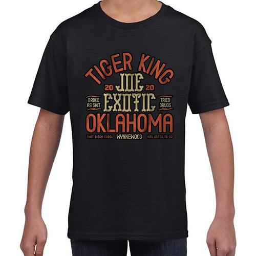 Joe Exotic The Tiger King Oklahoma Tshirt Shirt Kids Youth Children 6446