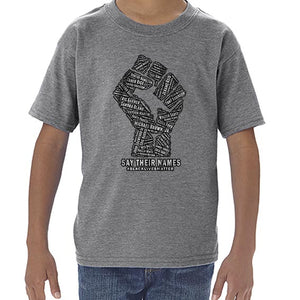 Say Their Names -  Black Lives Matter Awareness Tshirt Shirt Kids Youth Children 6455