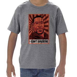I Can't Breathe - George Floyd BLM Pop Art Tshirt Shirt Kids Youth Children 6465