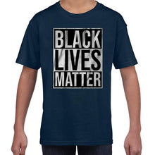 Load image into Gallery viewer, Black Lives Matter Typography Awareness Tshirt Shirt Kids Youth Children 6459