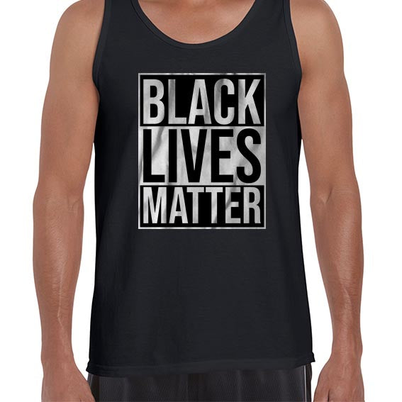 Black Lives Matter Typography Awareness Vest Tank Top Muscle Shirt Mens 6459