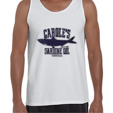 Load image into Gallery viewer, Carole's Sardine Oil Baskin Funny Joe Exotic Vest Tank Top Muscle Shirt Mens 6442