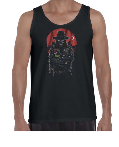 Vendetta Biker Inspired Movie Graphics Vest Tank Top Muscle Shirt Mens 3328