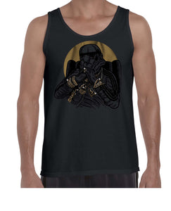 Gangsta Trooper Movie Inspired Fan Art Graphic Vest Tank Top Muscle Shirt Mens 3327