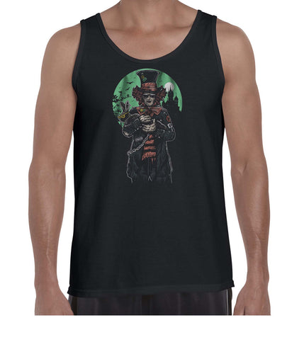 The Mad Hatter Movie Inspired Graphic Illustration Vest Tank Top Muscle Shirt Mens 3309