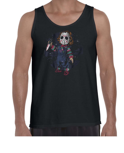Child's Play Mask Halloween Movie Mashup Vest Tank Top Muscle Shirt Mens 3293