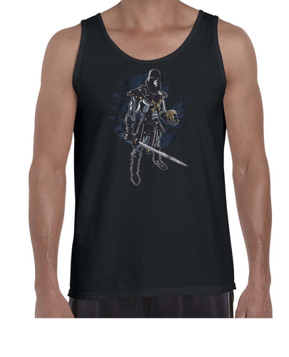 Dark Warrior Graphic Illustration Vest Tank Top Muscle Shirt Mens 3321