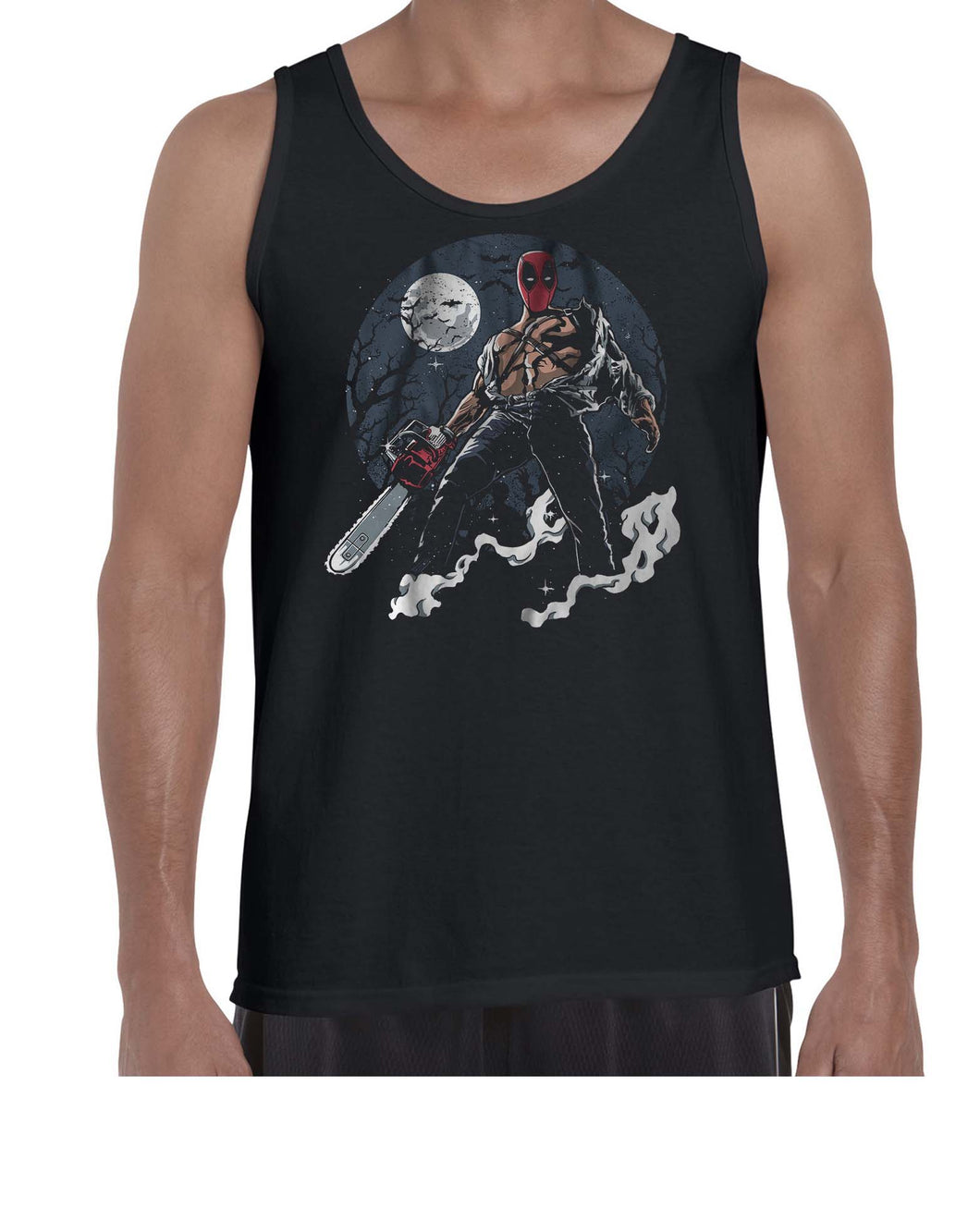 Texas DPool Chainsaw Mashup Vest Tank Top Muscle Shirt Mens 3301