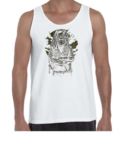 Predator Movie Inspired Cool Graphic Biker Vest Tank Top Muscle Shirt Mens 3312
