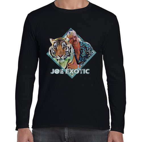 Joe Exotic Tiger King Vector Carole Baskin Long Sleeve Tshirt Shirt Mens Unisex 6435