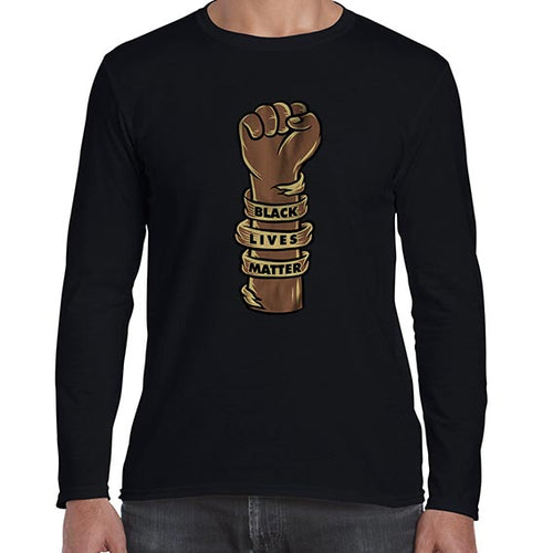 Black Lives Matter Graphic Awareness Long Sleeve Tshirt Shirt Mens Unisex 6463