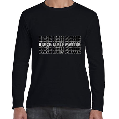 Black Lives Matter Graphic Statement Long Sleeve Tshirt Shirt Mens Unisex 6464