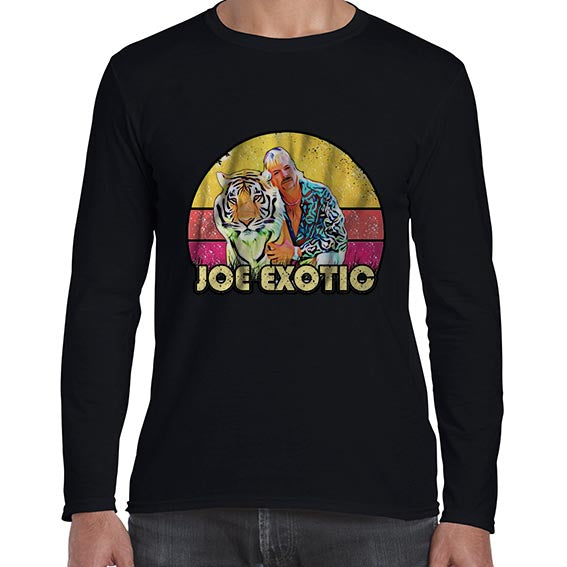 Vintage Joe Exotic The Tiger King Long Sleeve Tshirt Shirt Mens Unisex 6445