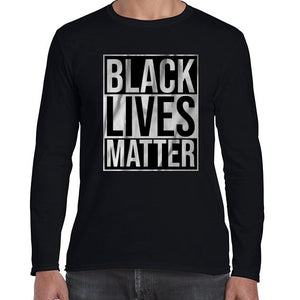 Black Lives Matter Typography Awareness Long Sleeve Tshirt Shirt Mens Unisex 6459