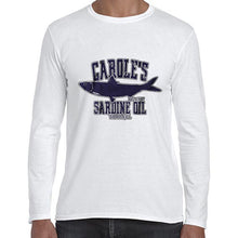 Load image into Gallery viewer, Carole's Sardine Oil Baskin Funny Joe Exotic Long Sleeve Tshirt Shirt Mens Unisex 6442