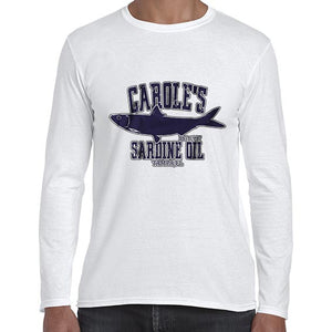 Carole's Sardine Oil Baskin Funny Joe Exotic Long Sleeve Tshirt Shirt Mens Unisex 6442