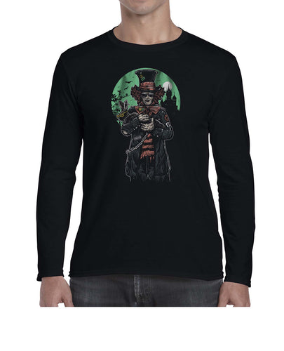 The Mad Hatter Movie Inspired Graphic Illustration Long Sleeve Tshirt Shirt Mens Unisex 3309