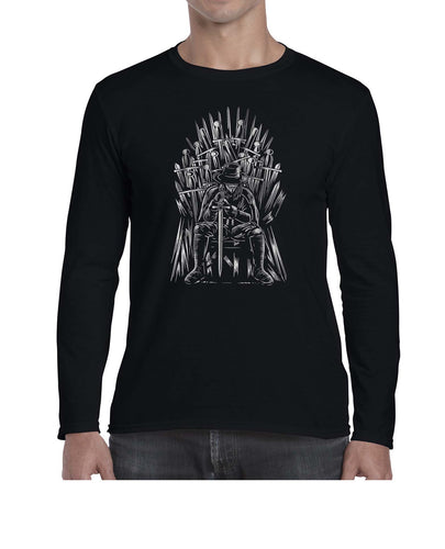 Vendetta Of Thrones Movie Inspired Mashup Long Sleeve Tshirt Shirt Mens Unisex 3326