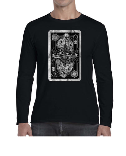 Stormtrooper Inspired Vintage Card Graphic Long Sleeve Tshirt Shirt Mens Unisex 3323