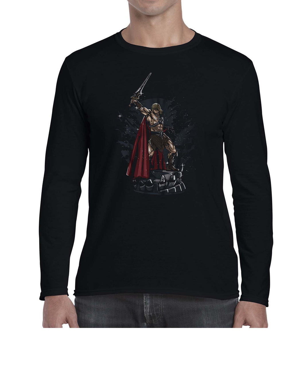 Master Of The Universe Cartoon Inspired Graphic Long Sleeve Tshirt Shirt Mens Unisex 3329