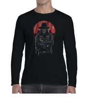 Load image into Gallery viewer, Vendetta Biker Inspired Movie Graphics Long Sleeve Tshirt Shirt Mens Unisex 3328