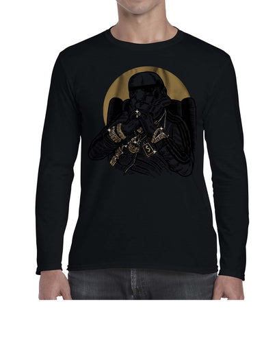 Gangsta Trooper Movie Inspired Fan Art Graphic Long Sleeve Tshirt Shirt Mens Unisex 3327