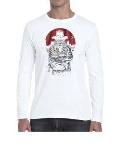 Vendetta Biker Inspired Movie Graphics Long Sleeve Tshirt Shirt Mens Unisex 3328