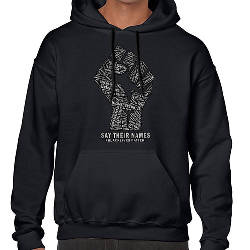 Say Their Names -  Black Lives Matter Awareness Hoodies Hoodie Hoody Mens Ladies Kids Unisex 6455