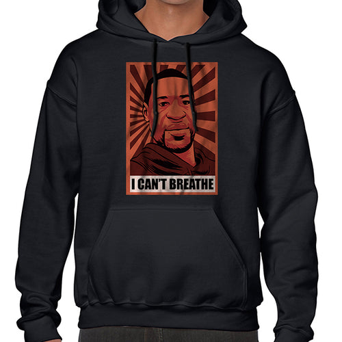 I Can't Breathe - George Floyd BLM Pop Art Hoodies Hoodie Hoody Mens Ladies Kids Unisex 6465
