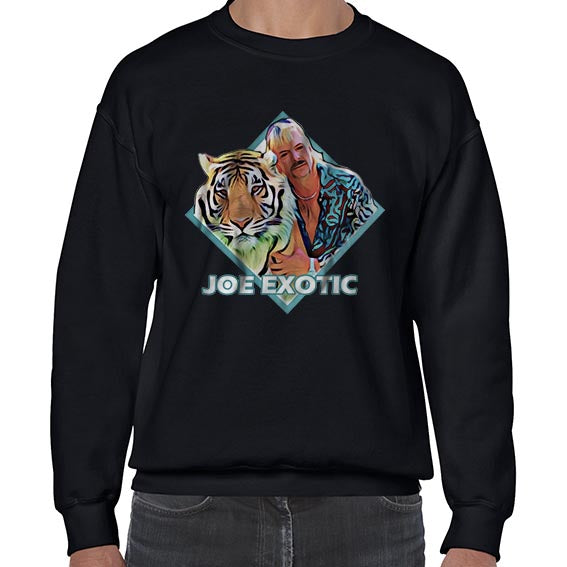 Joe Exotic Tiger King Vector Carole Baskin Sweater Jumper Sweatshirt Mens Ladies Kids Unisex 6435