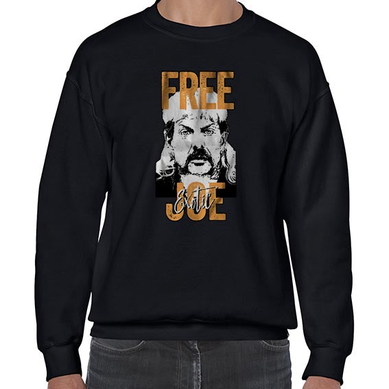 FREE Joe Exotic The Tiger King Graphic Sweater Jumper Sweatshirt Mens Ladies Kids Unisex 6444