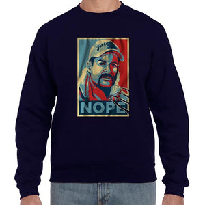 Nope Pop Art Joe Exotic Tiger King Graphic Sweater Jumper Sweatshirt Mens Ladies Kids Unisex 6439