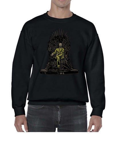 Baldy's Gamer Throne Funny Sweater Jumper Sweatshirt Mens Ladies Kids Unisex 3296