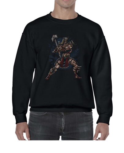 Smash That Hammer Cool Graphic Illustration Sweater Jumper Sweatshirt Mens Ladies Kids Unisex 3300