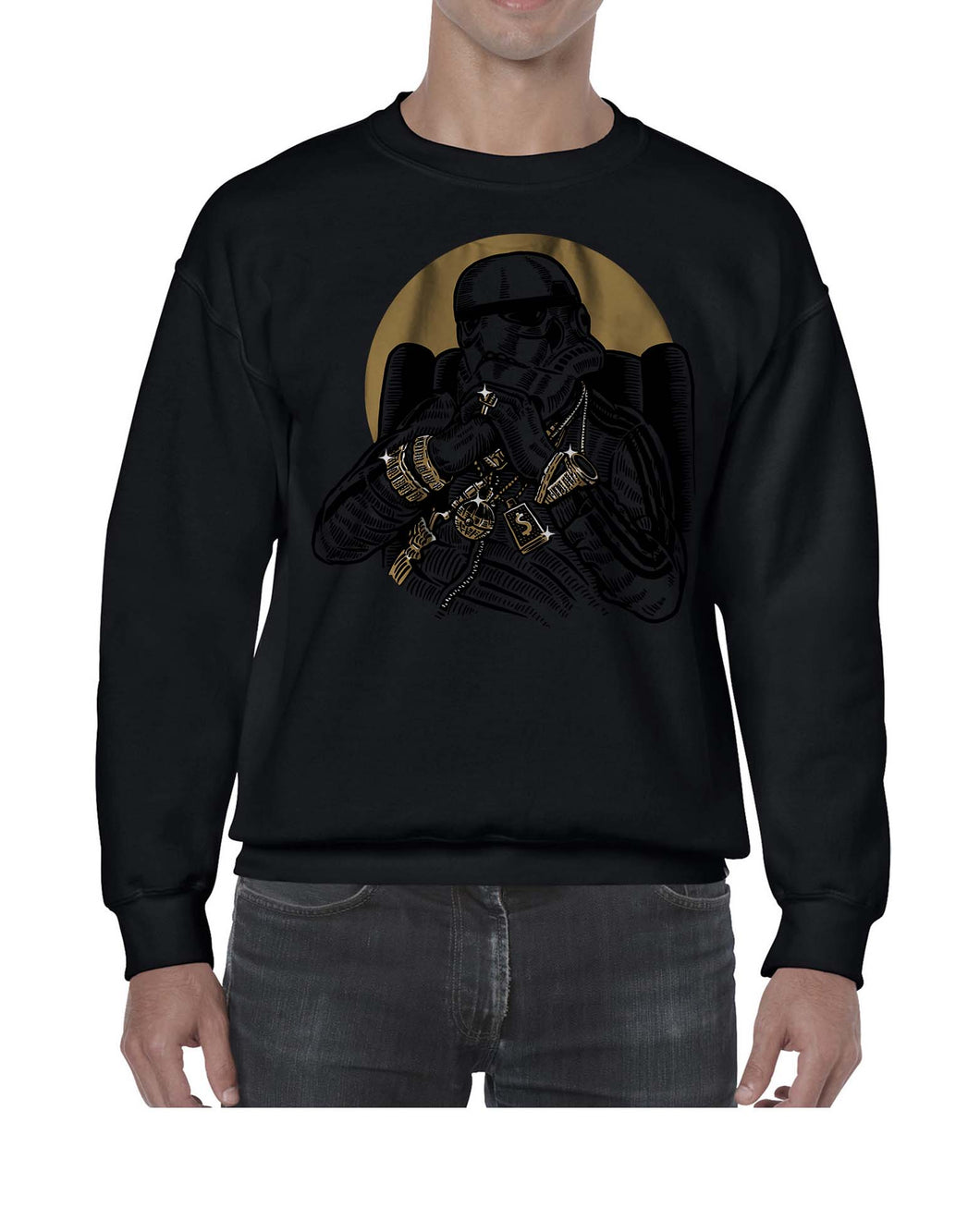 Gangsta Trooper Movie Inspired Fan Art Graphic Sweater Jumper Sweatshirt Mens Ladies Kids Unisex 3327