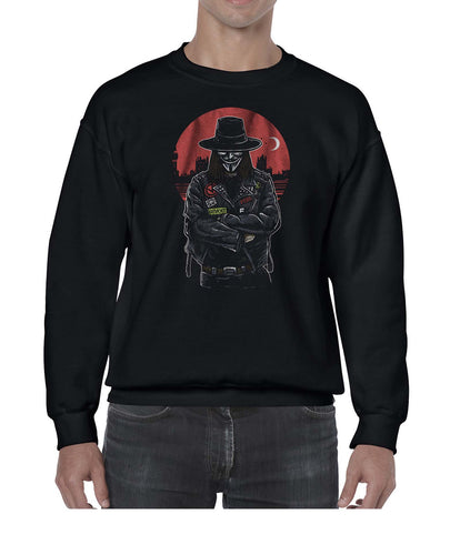 Vendetta Biker Inspired Movie Graphics Sweater Jumper Sweatshirt Mens Ladies Kids Unisex 3328