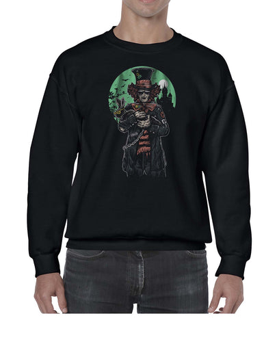 The Mad Hatter Movie Inspired Graphic Illustration Sweater Jumper Sweatshirt Mens Ladies Kids Unisex 3309
