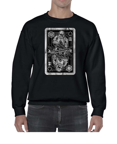 Stormtrooper Inspired Vintage Card Graphic Sweater Jumper Sweatshirt Mens Ladies Kids Unisex 3323