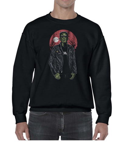 Franken Rockstar Music Inspired Halloween Sweater Jumper Sweatshirt Mens Ladies Kids Unisex 3302