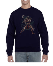 Load image into Gallery viewer, Smash That Hammer Cool Graphic Illustration Sweater Jumper Sweatshirt Mens Ladies Kids Unisex 3300