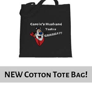 Carole Baskin Husband Tastes Great Joe Exotic Funny Tote Bag Cotton Shopper 38x42cm 6437