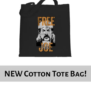 FREE Joe Exotic The Tiger King Graphic Tote Bag Cotton Shopper 38x42cm 6444