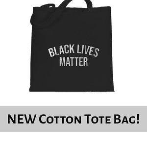 Black Lives Matter Statement Awareness Tote Bag Cotton Shopper 38x42cm 6458