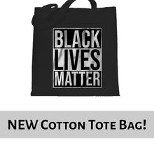 Load image into Gallery viewer, Black Lives Matter Typography Awareness Tote Bag Cotton Shopper 38x42cm 6459