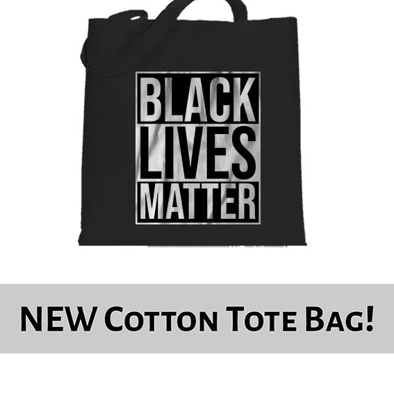 Black Lives Matter Typography Awareness Tote Bag Cotton Shopper 38x42cm 6459
