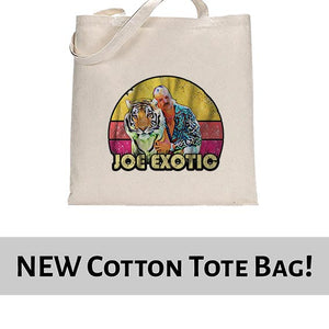 Vintage Joe Exotic The Tiger King Tote Bag Cotton Shopper 38x42cm 6445