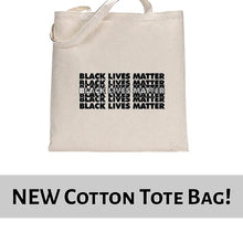 Load image into Gallery viewer, Black Lives Matter Graphic Statement Tote Bag Cotton Shopper 38x42cm 6464
