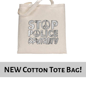 Stop Police Brutality BLM Movement Awareness Tote Bag Cotton Shopper 38x42cm 6461