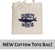 Load image into Gallery viewer, Carole's Sardine Oil Baskin Funny Joe Exotic Tote Bag Cotton Shopper 38x42cm 6442