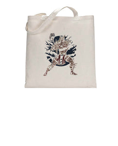 Smash That Hammer Cool Graphic Illustration Tote Bag Cotton Shopper 38x42cm 3300